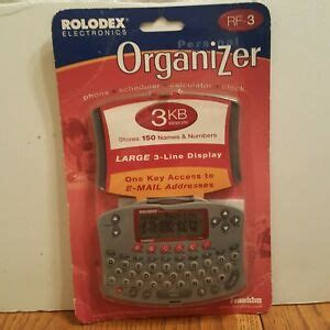 Franklin Rolodex RF-3 Personal Organizer New In Package