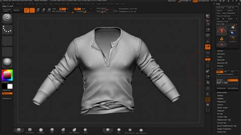 ZBrush Detailing Clothes : 服のシワや繊維の凹凸などワンランク上の