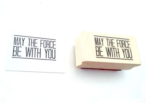 May the force be with you stamp | Stamp, Place card holders, Star wars